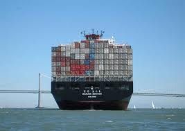 shipping container on ship